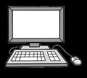 Grafik: Bildschirm, Tastatur und Maus